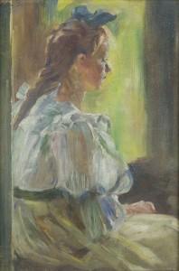 Olga Boznańska, Dziewczynka przy oknie, ok. 1890r., Muzeum Górnośląskie