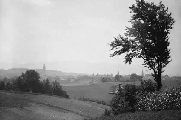 Jan Bułhak, Cieszyn. Panorama, fot.ze zbiorów Muzeum Górnośląskiego